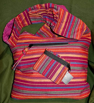 Handbags and accesories made of fairtrade cotton in Nepal