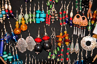 Earrings from Tibet and Nepal