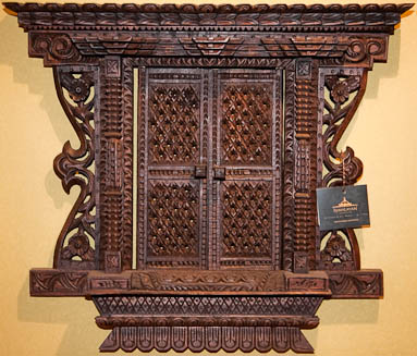 Handcrafted wood carvings from Nepal at Himalayan Paradise