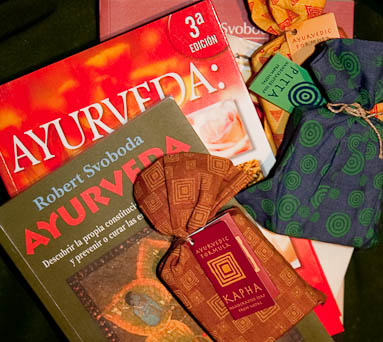 Ayurveda cosmetics and books