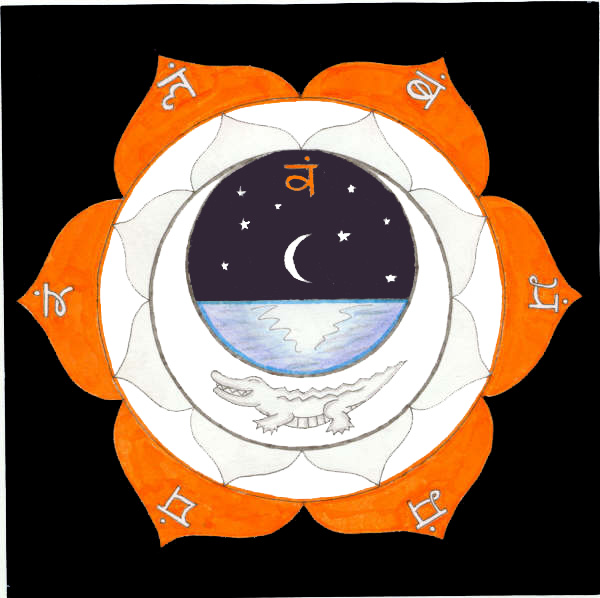 A representation of Swadhistana, sweetness, the second chakra